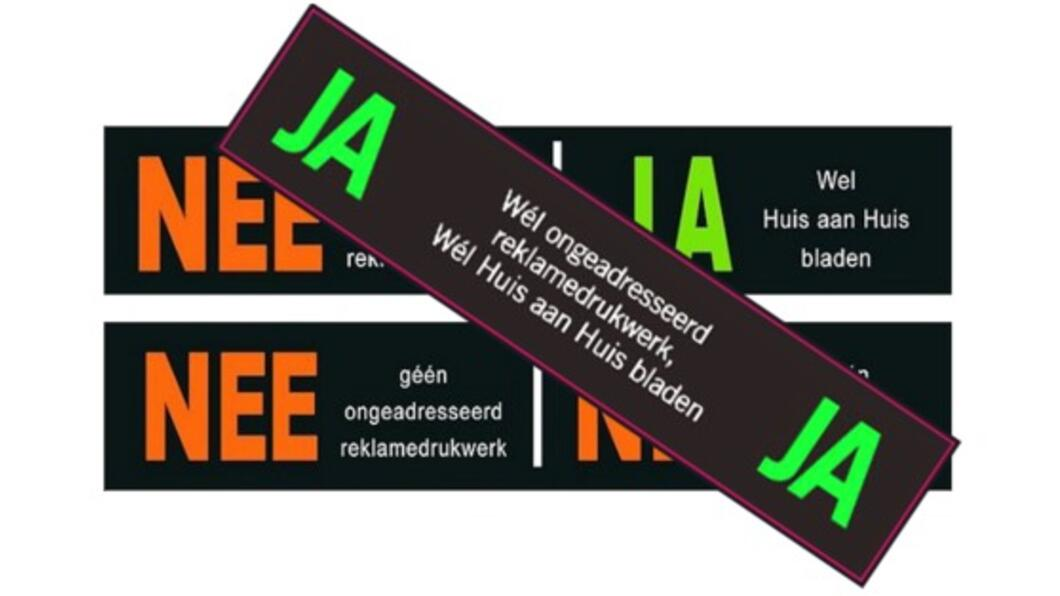 Ja ja sticker brievenbus